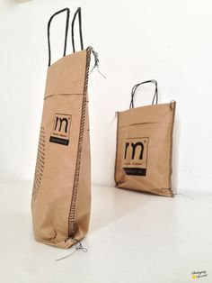 cement bags w/twisted paper handle