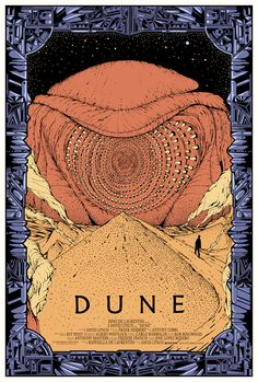 Limited edition DUNE poster made forMondo. Currently exhibited togheter with a lot of sweet art at their newGalleryspace in Austin/Texas which had a grand opening yesterday. - Kilian Eng
