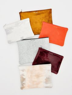 just added to sale — isoline leather zip pouches ($38-$48 after discount)