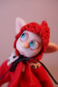 OOAK poseable polymer clay art dolls ... fairies gnome elves and the like ..  by Dinkydarlings