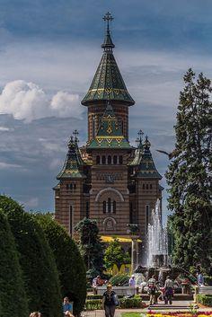 Romania Travel Inspiration - Timisoara, Romania (by pikrpl) Timisoara Romania, Bucharest Romania, Visit Romania, Romania Travel, Church Architecture, Chapelle, Eastern Europe, Europe Europe, Place Of Worship