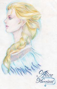 Comment dessiner une fille avec les tapes par merriout - Comment dessiner elsa ...