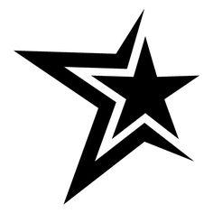 Black Star Tattoo, Star Tattoos, Star Tattoo Designs, Star Designs, Star Stencil, Stencils, Sugar Skull Tattoos, Star Logo, Stencil Designs