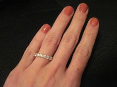 Beautiful white gold and diamond wedding band- also a great right hand ring!