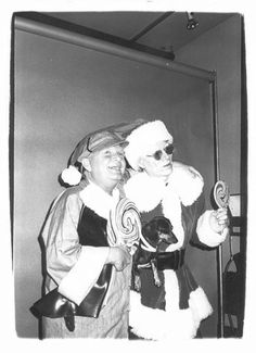 Andy Warhol as Santa! Follow FOSTERGINGER@ PINTEREST for more pins like this. NO PIN LIMITS. Thanks to my 22,000 Followers. Follow me on INSTAGRAM @ ART_TEXAS