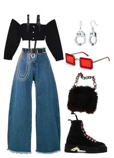"""Untitled #818"" by lucyshenton ❤ liked on Polyvore featuring Marques'Almeida, M.Y.O.B., Relic, Chanel and Off-White"