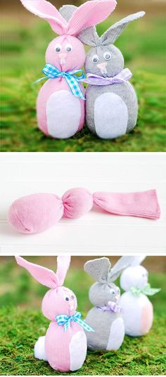 Sock Bunny's | Easy Easter Crafts for Kids to Make