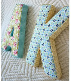 How To Make Fabric Letters | Welcome Home