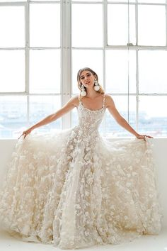 Wonderful Perfect Wedding Dress For The Bride Ideas. Ineffable Perfect Wedding Dress For The Bride Ideas. Yellow Floral Dress, Lace Dress Black, White Dress, White And Gold Dresses, Floral Gown, Best Wedding Dresses, Cheap Wedding Dress, Gown Wedding, Wedding Outfits