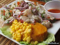 Aprende a preparar ceviche de pescado peruano con esta rica y fácil receta. El ceviche de pescado es un entrante que se elabora a partir de la carne de pescado blanc...