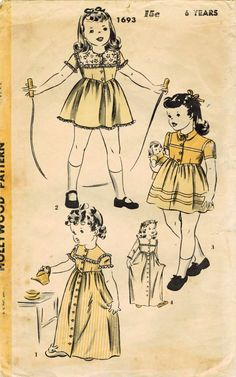 1940s Hollywood 1693 Vintage Sewing Pattern by midvalecottage