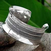 Sterling silver cuff bracelet, 'Sterling Mirror' from @NOVICA, They help #artisans succeed worldwide.