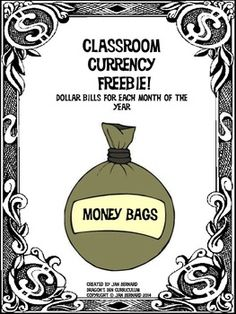 One of my buyers liked the Santa dollars in my Christmas resource, and asked me to make dollars for each month of the year. That sounded like a great idea, so here they are! I hope they are helpful in your classroom currency project! $