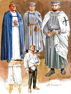 """Casual clothing Teutonic Order, approx. 1250"""