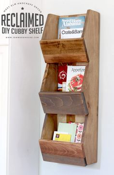 Cubby shelf perfect for a kid's room or entryway! Inspired by West Elm but built for way less. Complete building plans and great tutorial to build your own.