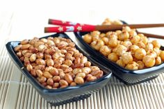 soy nuts and roasted chick peas