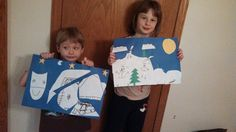 Winter Landscape from the Kindergarten DVD. Home Art Studio.