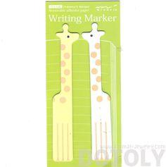 Adorable Giraffe Shaped Animal Themed Memo Post-it Adhesive Writing Marker Bookmark Tabs