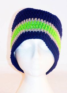 Blue and Green Sporty Hat - Great for Seahawk fans