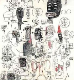 Jean-Michel Basquiat - Untitled (Black Head Six Eyes), 1986