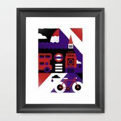 London Framed Art Print by Koivo - $40.00