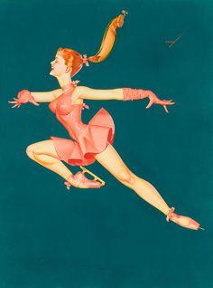 GEORGE PETTY Petty Ice Capades illustration, 1965