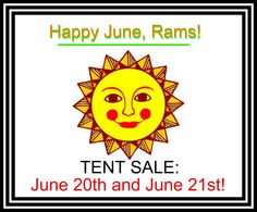 Can't wait for the Tent Sale!