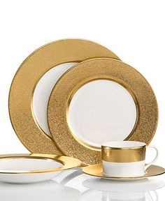 Mix and match the china!  Donna Karan Lenox Dinnerware, Gold Dust Collection - Fine China - Dining & Entertaining - Macy's Bridal and Wedding Registry