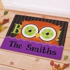 Owl Personalized Door Mat