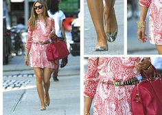 Olivia Palermo styling a $67 dress to make it look super-fancy