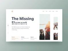 Missing Element designed by Shekh Al Raihan ✪ for Ofspace Team. Connect with them on Dribbble; Website Design Inspiration, Blog Website Design, Graphic Design Inspiration, Website Ideas, Web Design Examples, Ux Design, Layout Design, Minimal Graphic Design, Web Layout