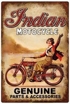Vintage Indian Motorcycle Dealer Advertising Poster 1918 World War . Bike Poster, Motorcycle Posters, Motorcycle Art, Bike Art, Women Motorcycle, Old Posters, Posters Vintage, Retro Poster, Vintage Indian Motorcycles