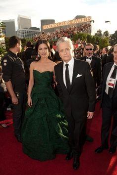 Catherine Zeta-Jones in Monique Lhuillier - 2011 Golden Globes