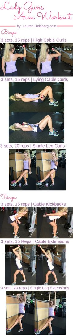 Biceps + Triceps Arm Workout | #LGLoveYourselfFit Challenge by LaurenGleisberg.com