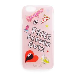 peekaboo iPhone 6/6s case with stickers - translucent blush