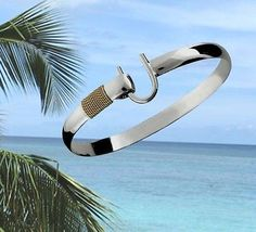 6mm .925 sterling silver & 14k gold st. #croix #caribbean hook #bracelet - 7,  View more on the LINK: http://www.zeppy.io/product/gb/2/291812665616/