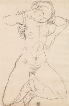Egon Schiele, Kat. Nr. 208, Frauenakt, 1914, Bleistift auf Papie 48 x 31,7 cm, verkauft um: € 327.600