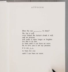 """""""My Fate"""" poem 9 of my new chapbook. Free shipping all day on chapbooks. (Link in bio). Happy love day. @atticuspoetry #atticuspoetry   A portion of all proceeds goes to @twloha and @pacificwild"""