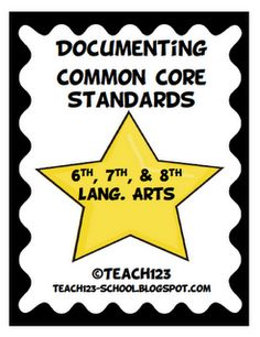 Document Common Core Standards - 6th, 7th, 8th Lang. Arts  $