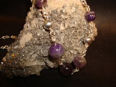 Amethyst Silver Necklace by superioragates on Etsy, $45.00