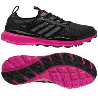 Adidas Ladies Adistar Climacool Golf Shoes - Black/Carbon/Bahia Magenta
