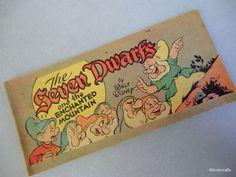 Walt #Disney #Comic Book 7 #Dwarfs Enchanted Mount Z3 Cheerios 1947 Cereal Premium