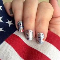 KaBoom #jamberry nail wraps, will be perfect for July 4th holiday.