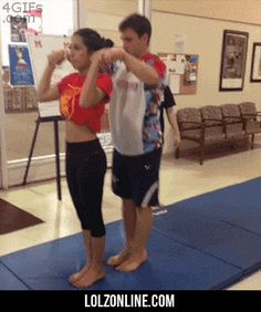 Gymnastics backflip and catch…