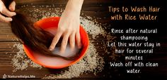 How to wash hair with rice water. Tips