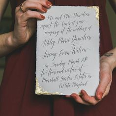 Gold Leaf Invitation by With Wild and Grace