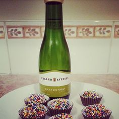 Humm perfect combination# champagne and delicious chocolate Brigadeiros.