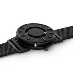 The Bradley Black tactile timepiece launches exclusively at Dezeen Watch Store.