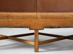 Kaare Klint Early Sofa for Rud Rasmussen in Patinated Cognac Leather  5