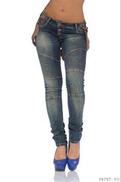 Τζιν παντελόνι με τιράντες - Μπλε